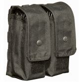 AR AK Double Magazine Pouch MOLLE Plus - Holds Six Mags - Black