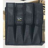 9mm Magazine Pouch - Four Pocket with Belt Loops and Modular Attachment