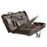 Double Discreet Square Rifle Case - 42 Inch AR-15 Mini 14 HK - Black